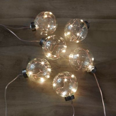 Anthropologie String Lights Copper : LED Decorations - Battery Operated LED Lights & Branches, Blue Lights - Bed Bath & Beyond
